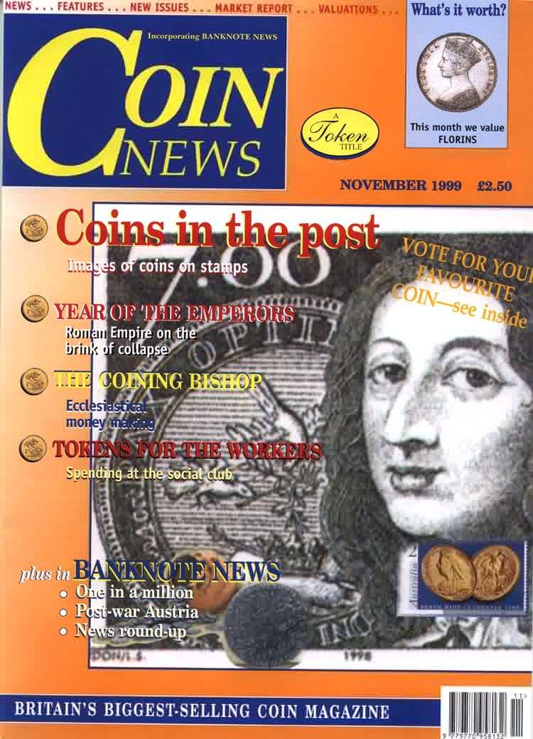 Front cover of 'Vote for your favourite...', Coin News November 1999, Volume 36, Number 11 by Token Publishing