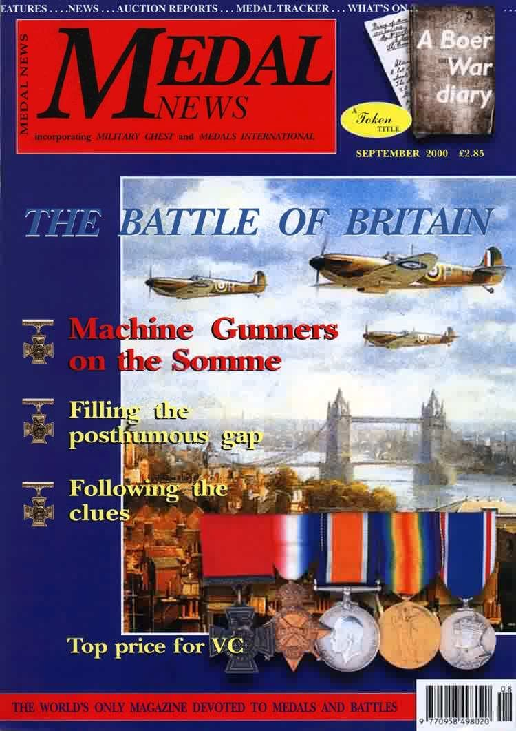 Front cover of 'Flying High', Medal News September 2000, Volume 38, Number 8 by Token Publishing