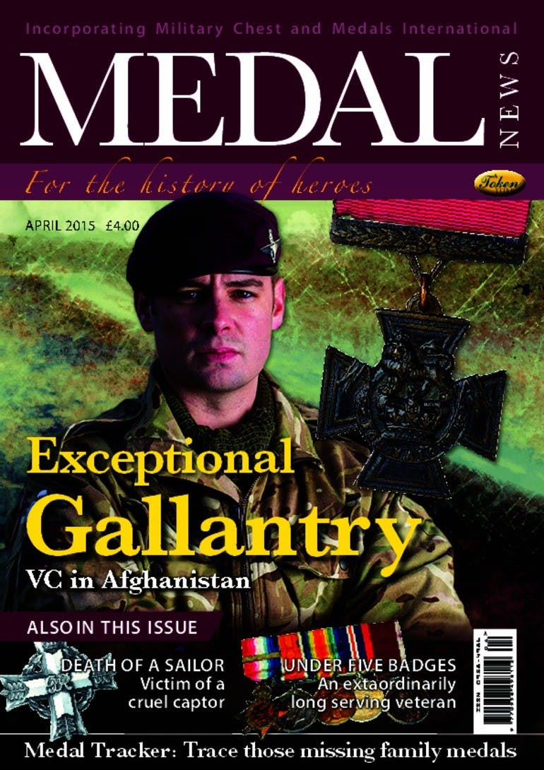 Front cover of 'Exceptional Gallantry', Medal News April 2015, Volume 53, Number 4 by Token Publishing