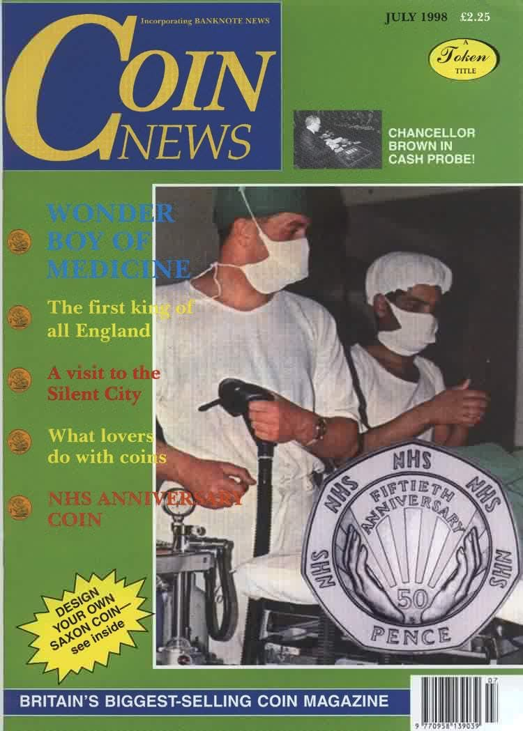 Front cover of 'SOMETHING TO CELEBRATE', Coin News July 1998, Volume 35, Number 7 by Token Publishing