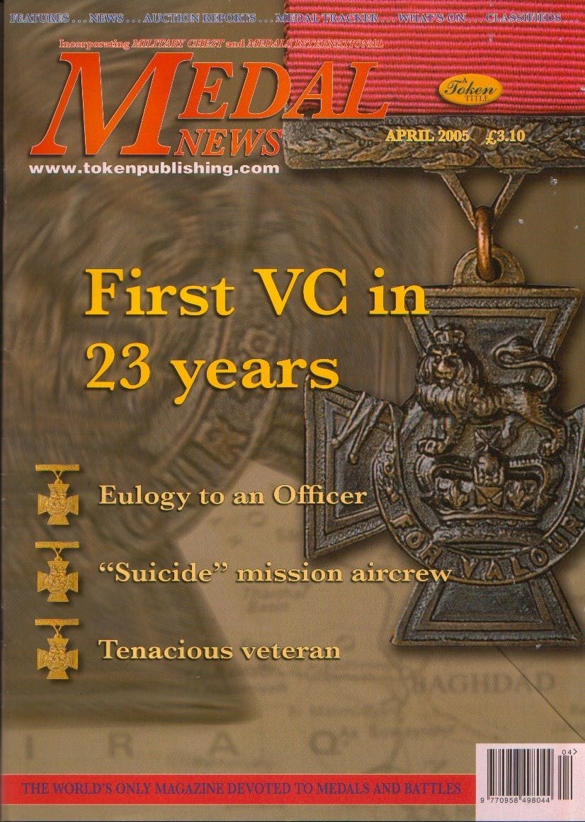 Front cover of 'A national crisis', Medal News April 2005, Volume 43, Number 4 by Token Publishing