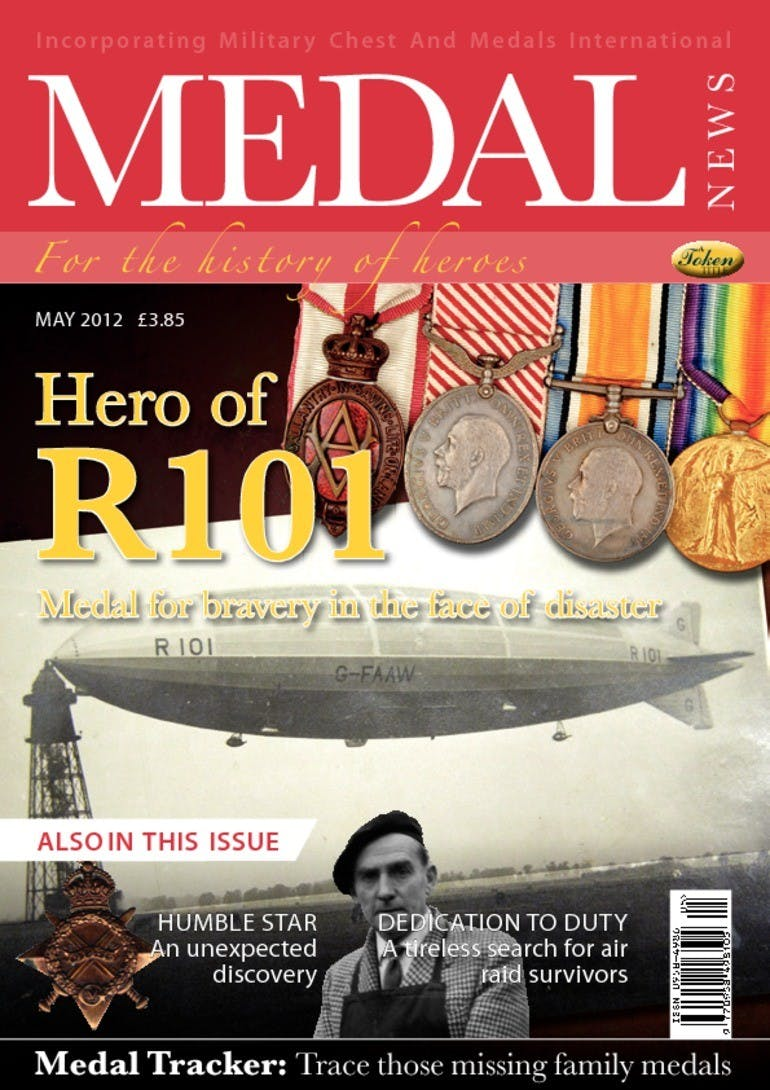 Front cover of 'Hero of R101', Medal News May 2012, Volume 50, Number 5 by Token Publishing