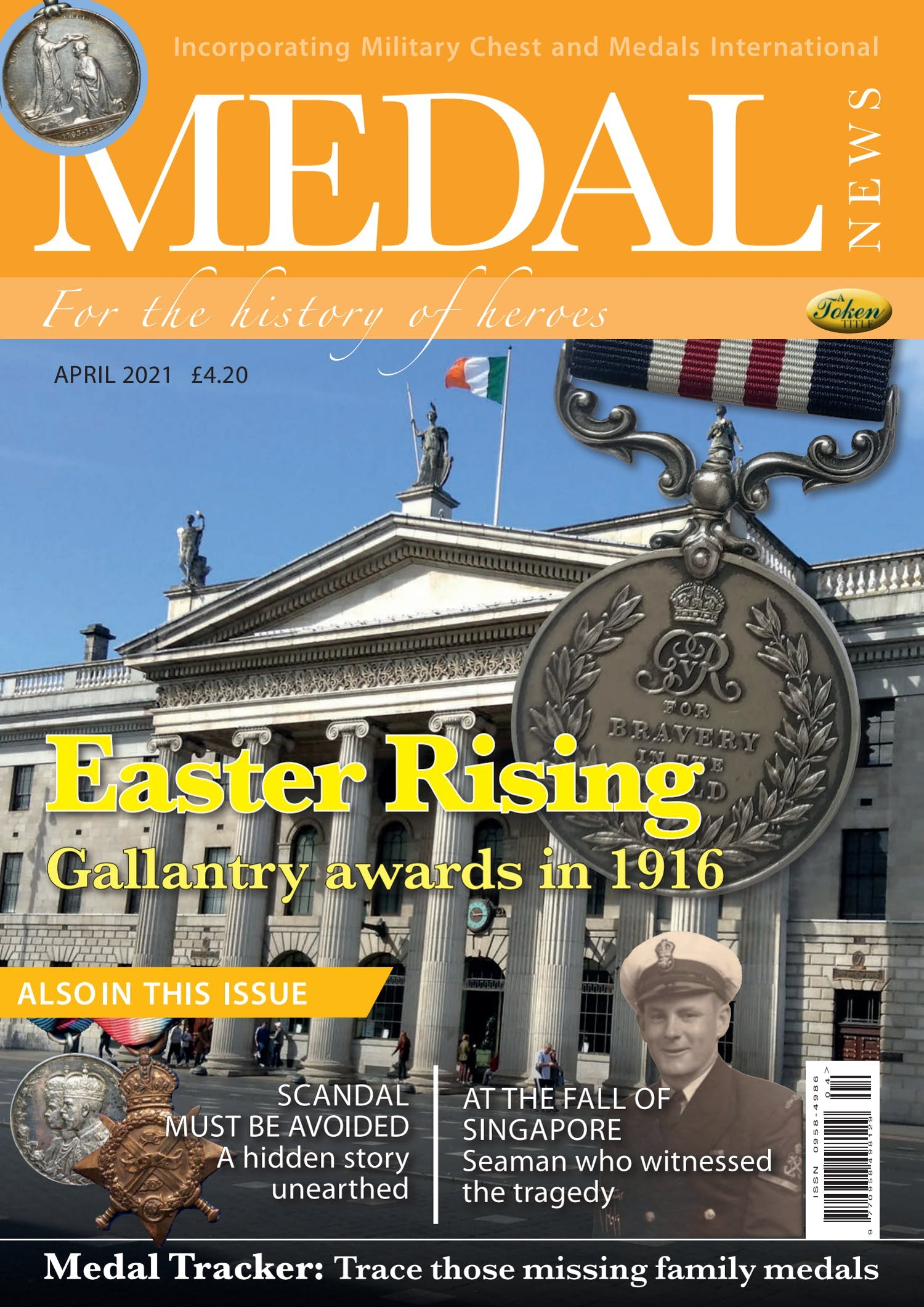 Front cover of 'Easter Rising', Medal News April 2021, Volume 59, Number 4 by Token Publishing
