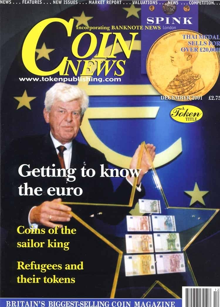 Front cover of 'Vive La Revolution?', Coin News December 2001, Volume 38, Number 12 by Token Publishing