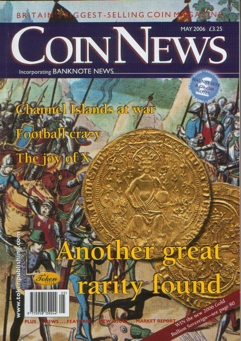 Front cover of 'Let's make a  start to stop', Coin News May 2006, Volume 43, Number 5 by Token Publishing