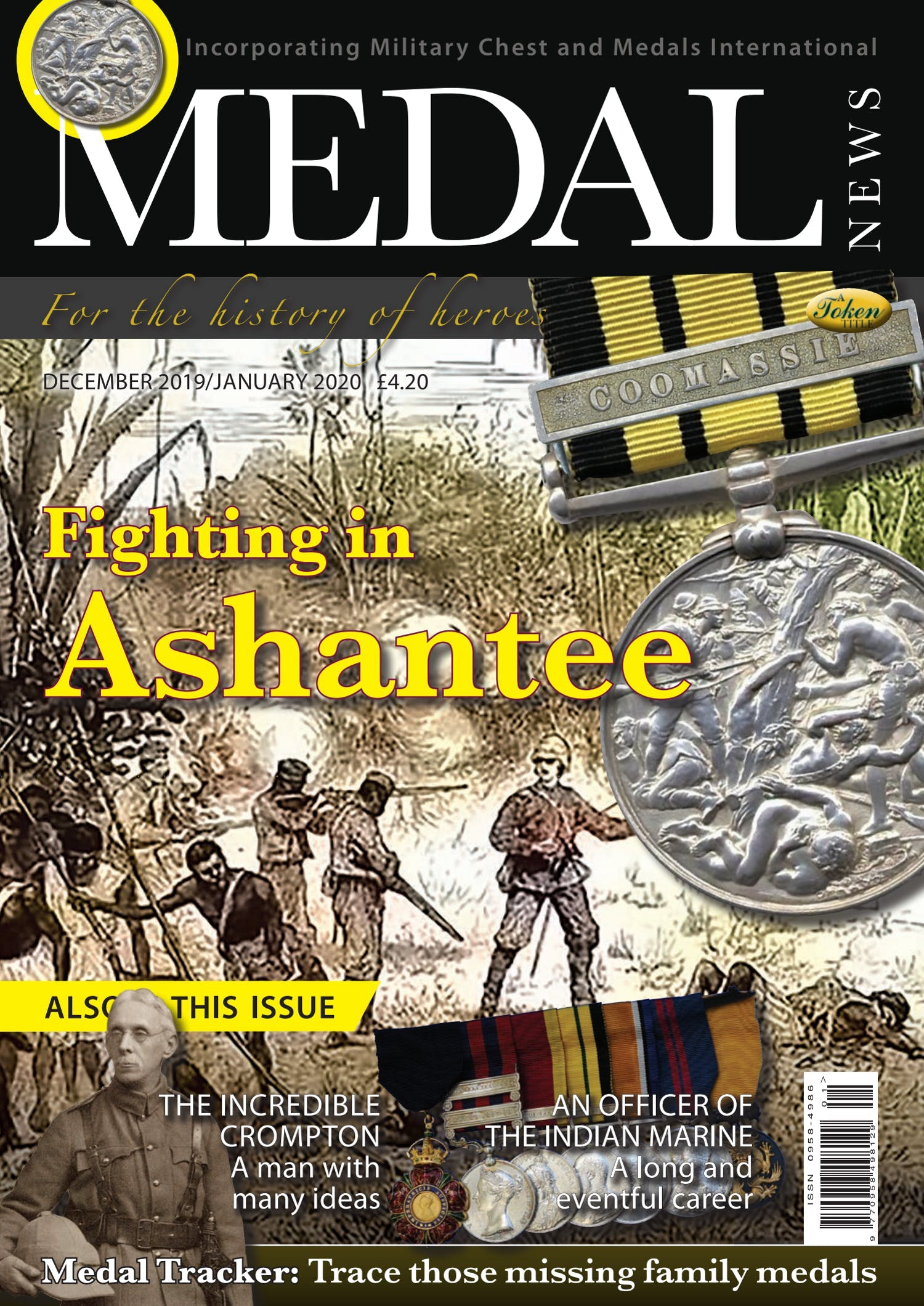 The front cover of Medal News, Volume 58, Number 1, January 2020