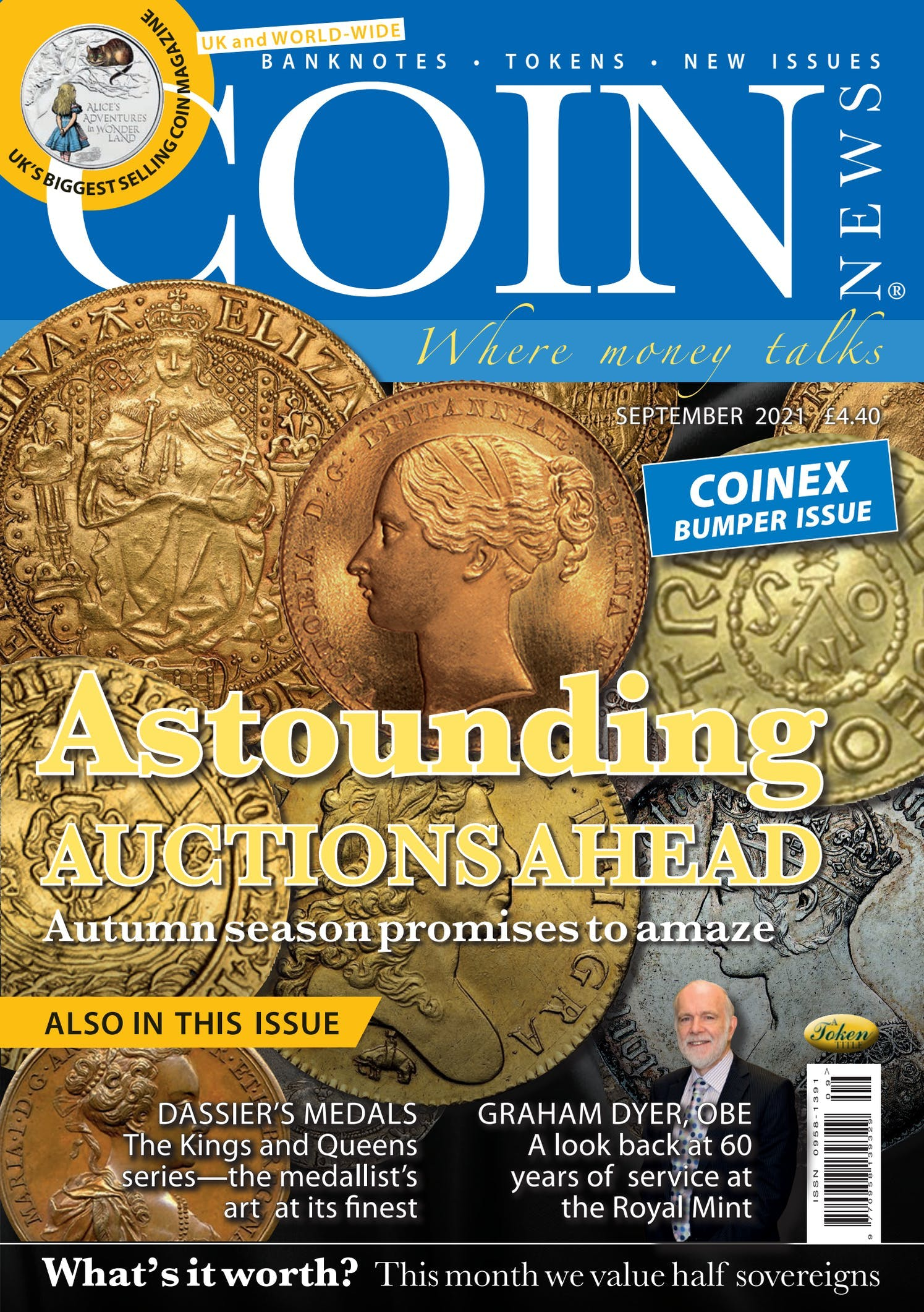 The front cover of Coin News, September 2021 - Volume 58, Number 9