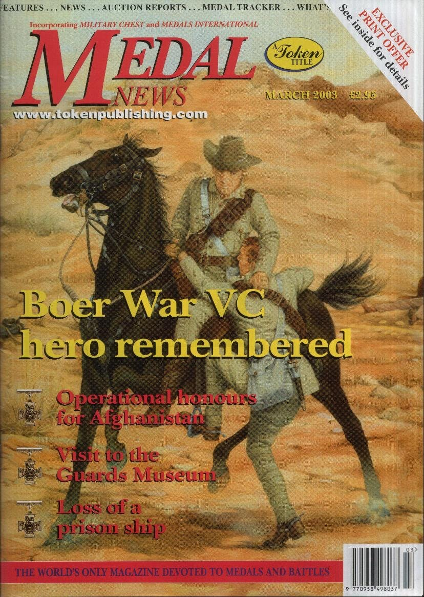 Front cover of 'On Our Guard', Medal News March 2003, Volume 41, Number 3 by Token Publishing