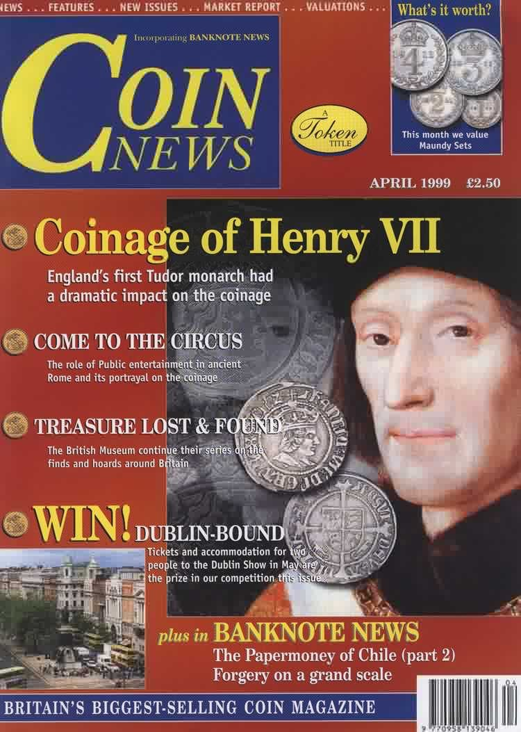 Front cover of 'Care and Condition', Coin News April 1999, Volume 36, Number 4 by Token Publishing