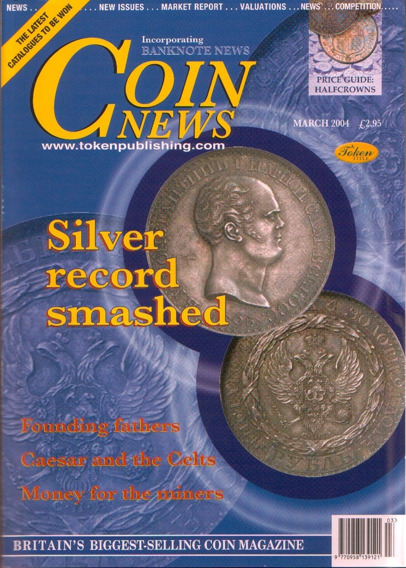 Front cover of 'World's apart', Coin News March 2004, Volume 41, Number 3 by Token Publishing