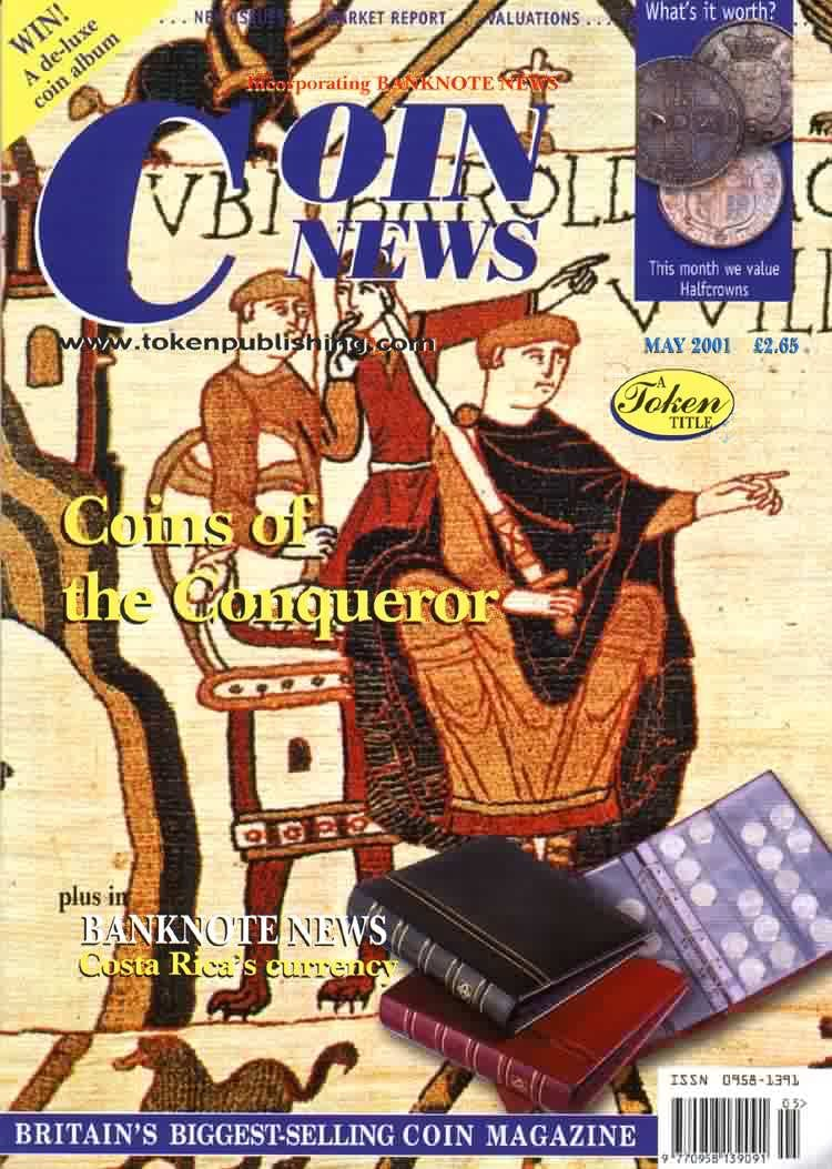 Front cover of 'At the heart', Coin News May 2001, Volume 38, Number 5 by Token Publishing