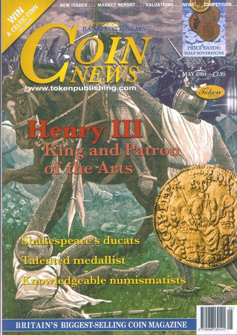 Front cover of 'Spreading the word', Coin News May 2004, Volume 41, Number 5 by Token Publishing