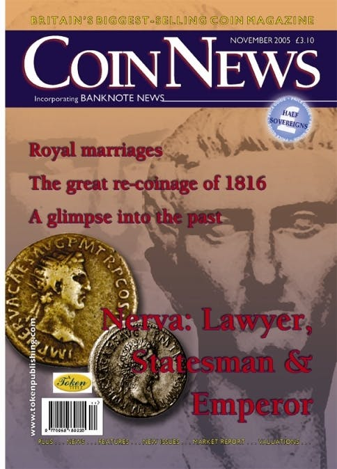 Front cover of 'The Right move?', Coin News November 2005, Volume 42, Number 11 by Token Publishing