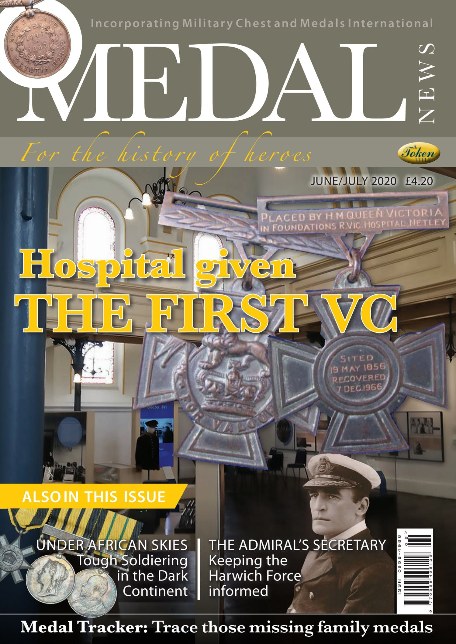 Front cover of 'Hospital given the first VC', Medal News June 2020, Volume 58, Number 6 by Token Publishing