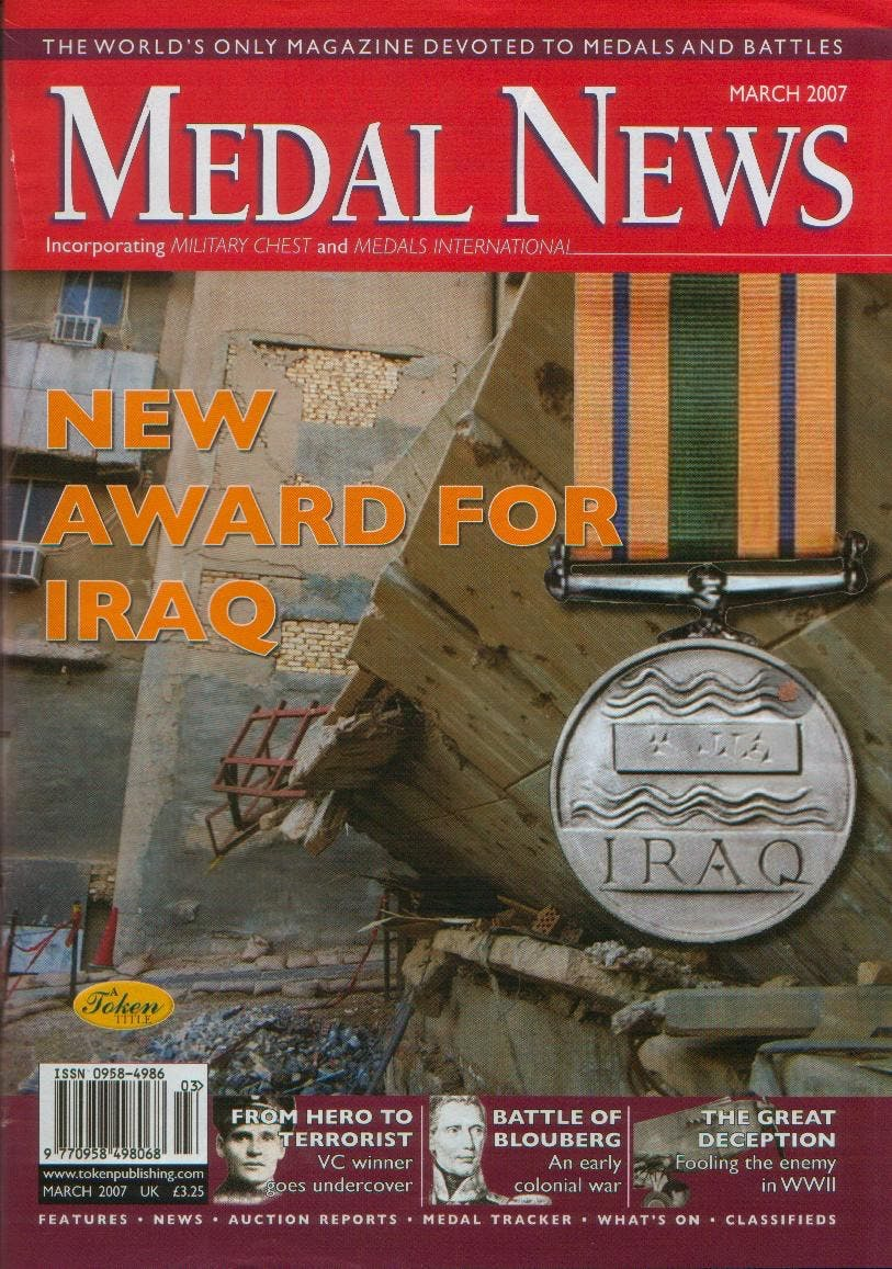 Front cover of 'On the up!', Medal News March 2007, Volume 45, Number 3 by Token Publishing