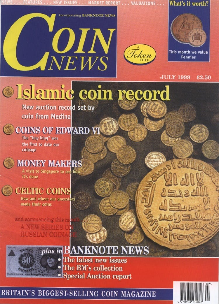 Front cover of 'After Glasnost', Coin News July 1999, Volume 36, Number 7 by Token Publishing