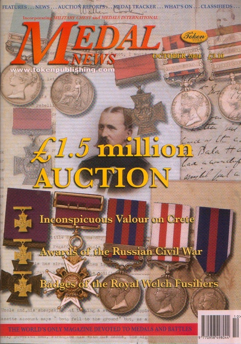 Front cover of 'Because you're worth it!', Medal News October 2004, Volume 42, Number 9 by Token Publishing