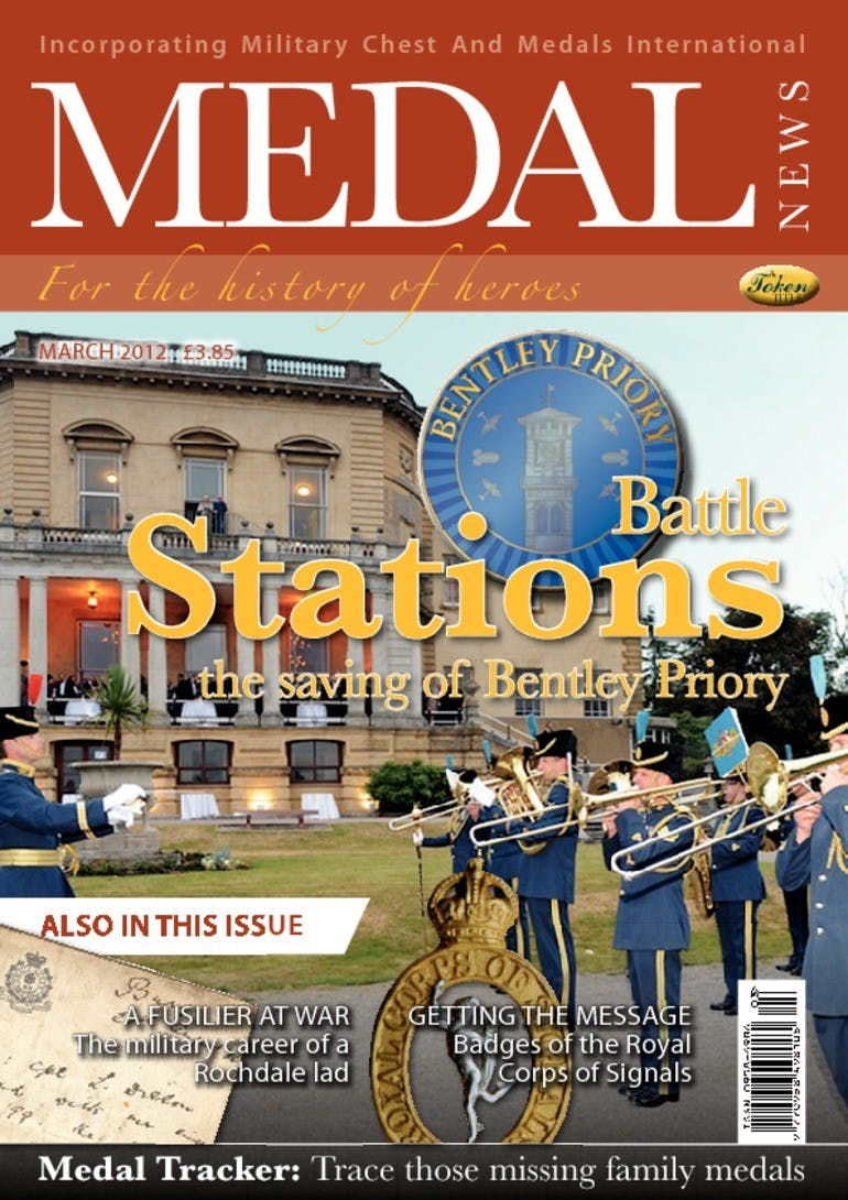 Front cover of 'Battle Stations', Medal News March 2012, Volume 50, Number 3 by Token Publishing