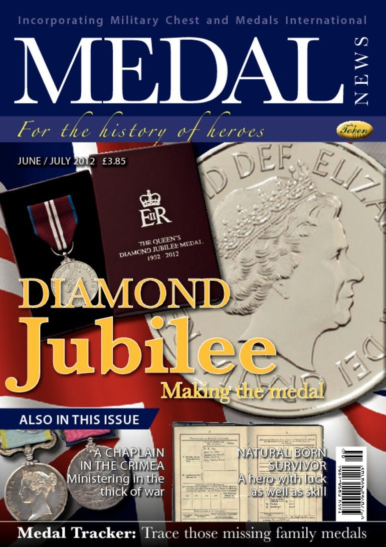 Front cover of 'Diamond Jubilee', Medal News June 2012, Volume 50, Number 6 by Token Publishing