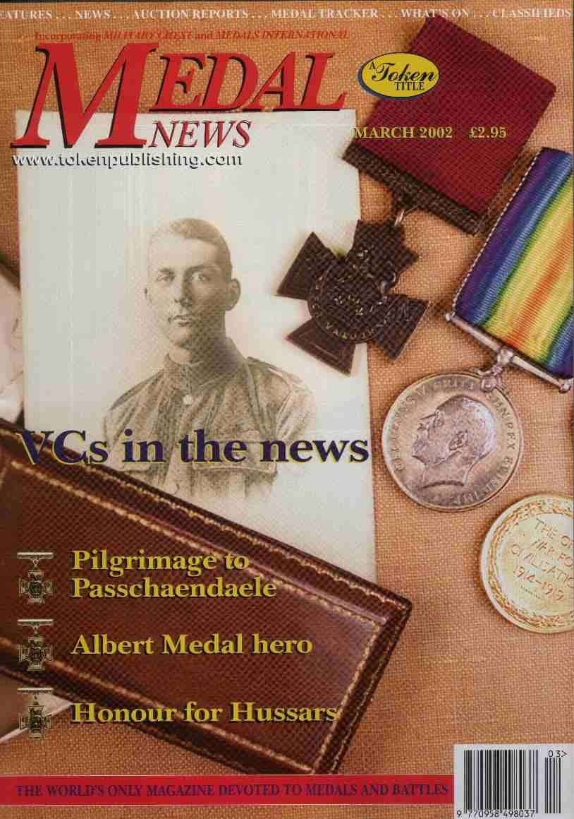 Front cover of 'Part of history', Medal News March 2002, Volume 40, Number 3 by Token Publishing