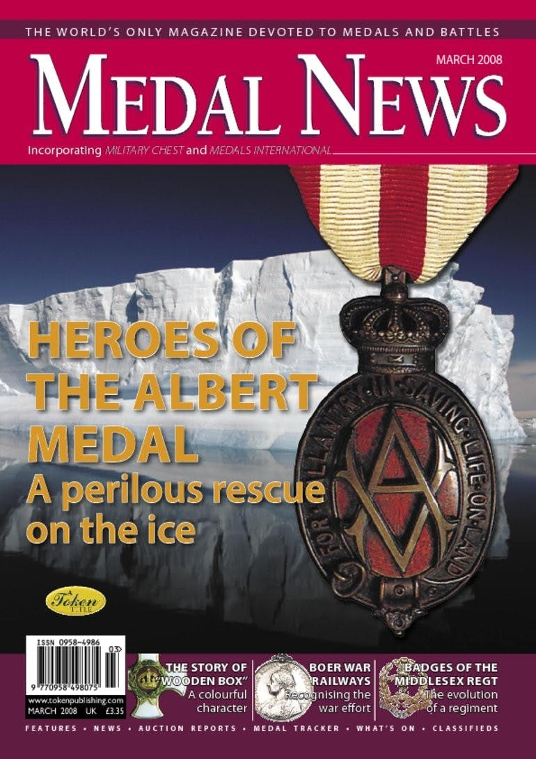Front cover of 'Heroes of the Albert Medal', Medal News March 2008, Volume 46, Number 3 by Token Publishing