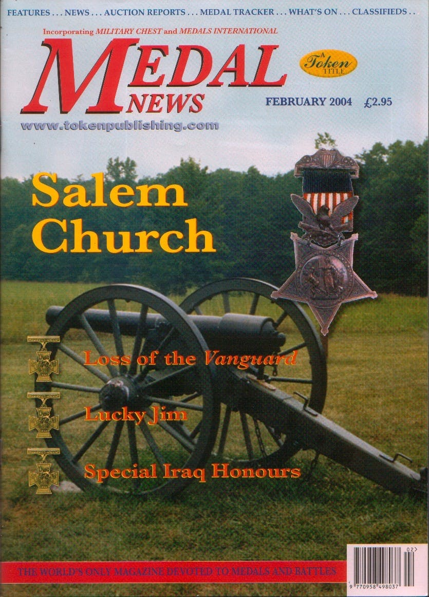 Front cover of 'A taxing issue', Medal News February 2004, Volume 42, Number 2 by Token Publishing