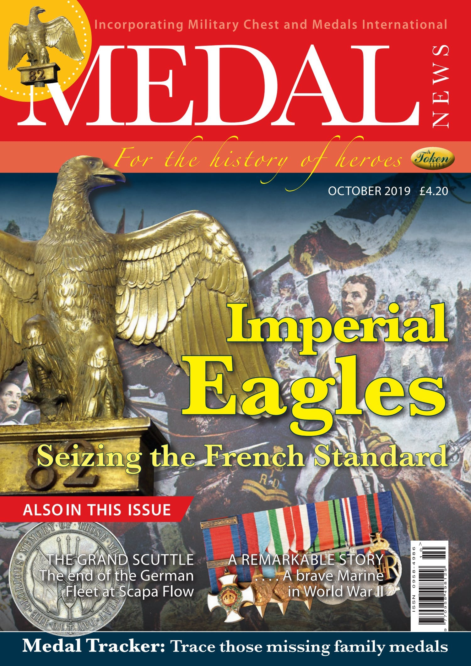 Front cover of 'Imperial Eagles', Medal News October 2019, Volume 57, Number 9 by Token Publishing