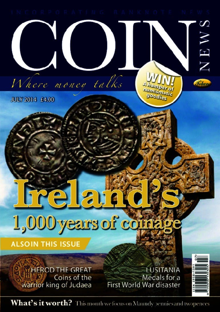 Front cover of 'Ireland's 1,000 years of coinage', Coin News July 2014, Volume 51, Number 7 by Token Publishing