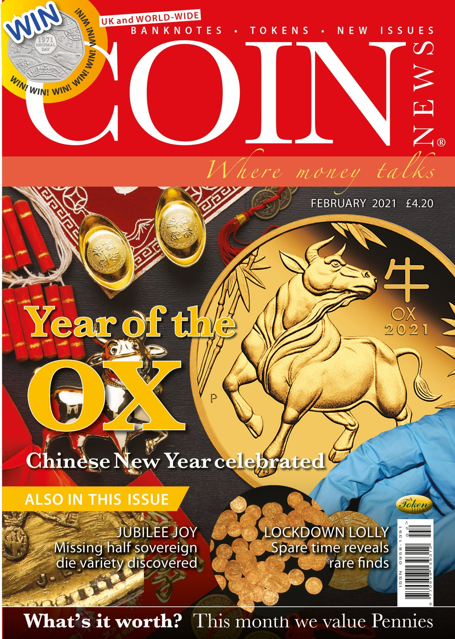The front cover of Coin News, Volume 58, Number 2, February 2021