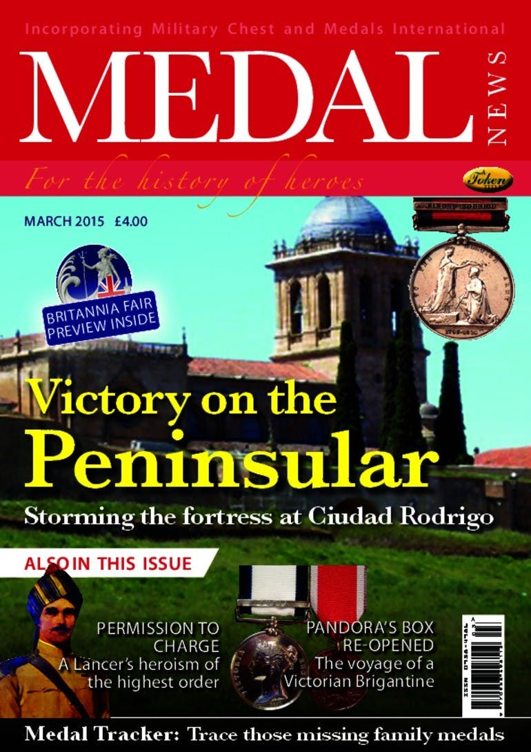 Front cover of 'Victory on the Peninsular', Medal News March 2015, Volume 53, Number 3 by Token Publishing