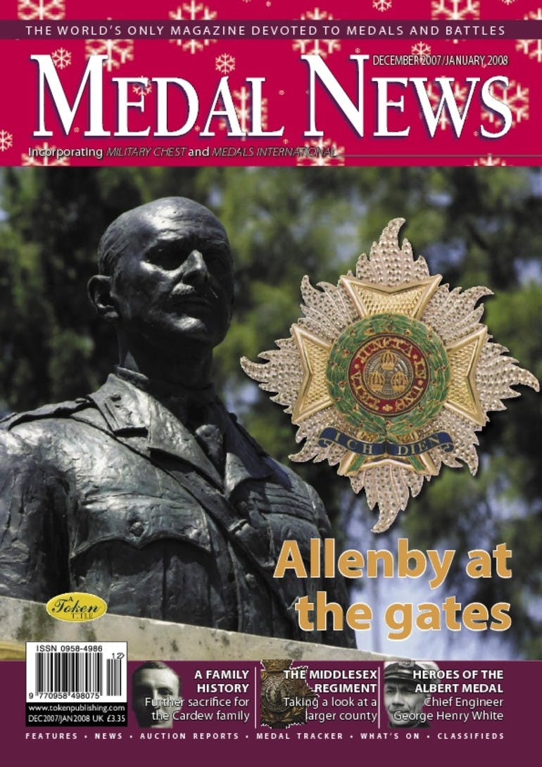 Front cover of 'Allenby at the gates', Medal News December 2007, Volume 46, Number 1 by Token Publishing