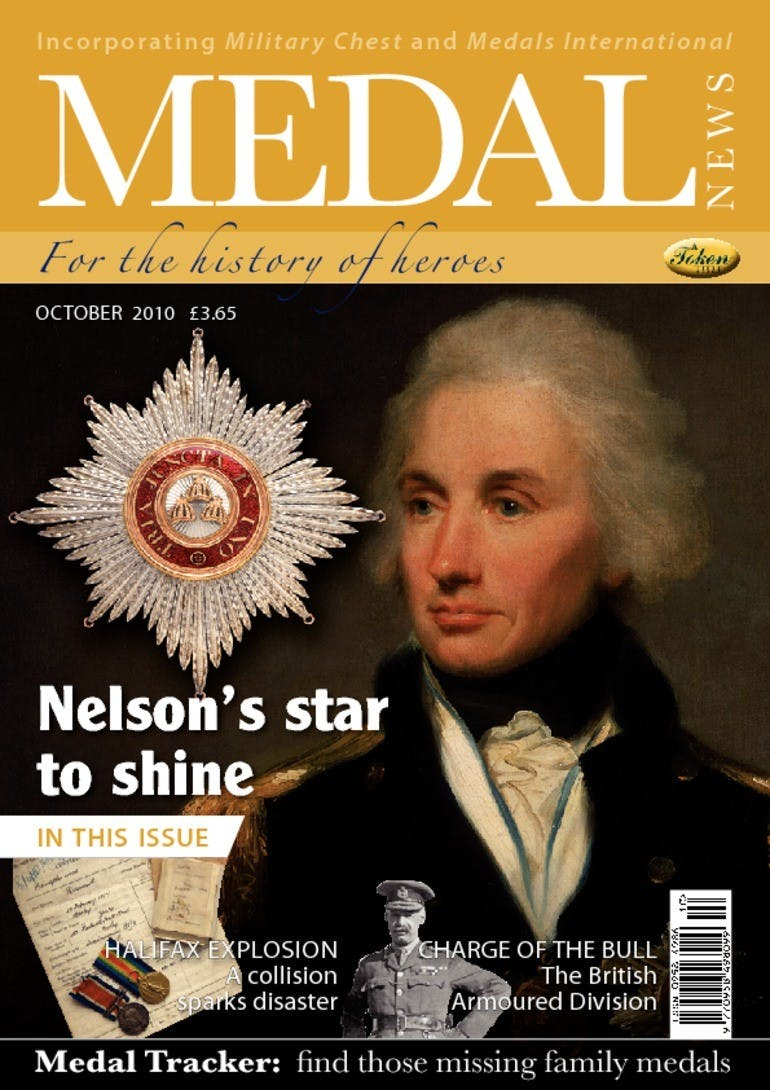 Front cover of 'Nelson's Star to shine', Medal News October 2010, Volume 48, Number 9 by Token Publishing