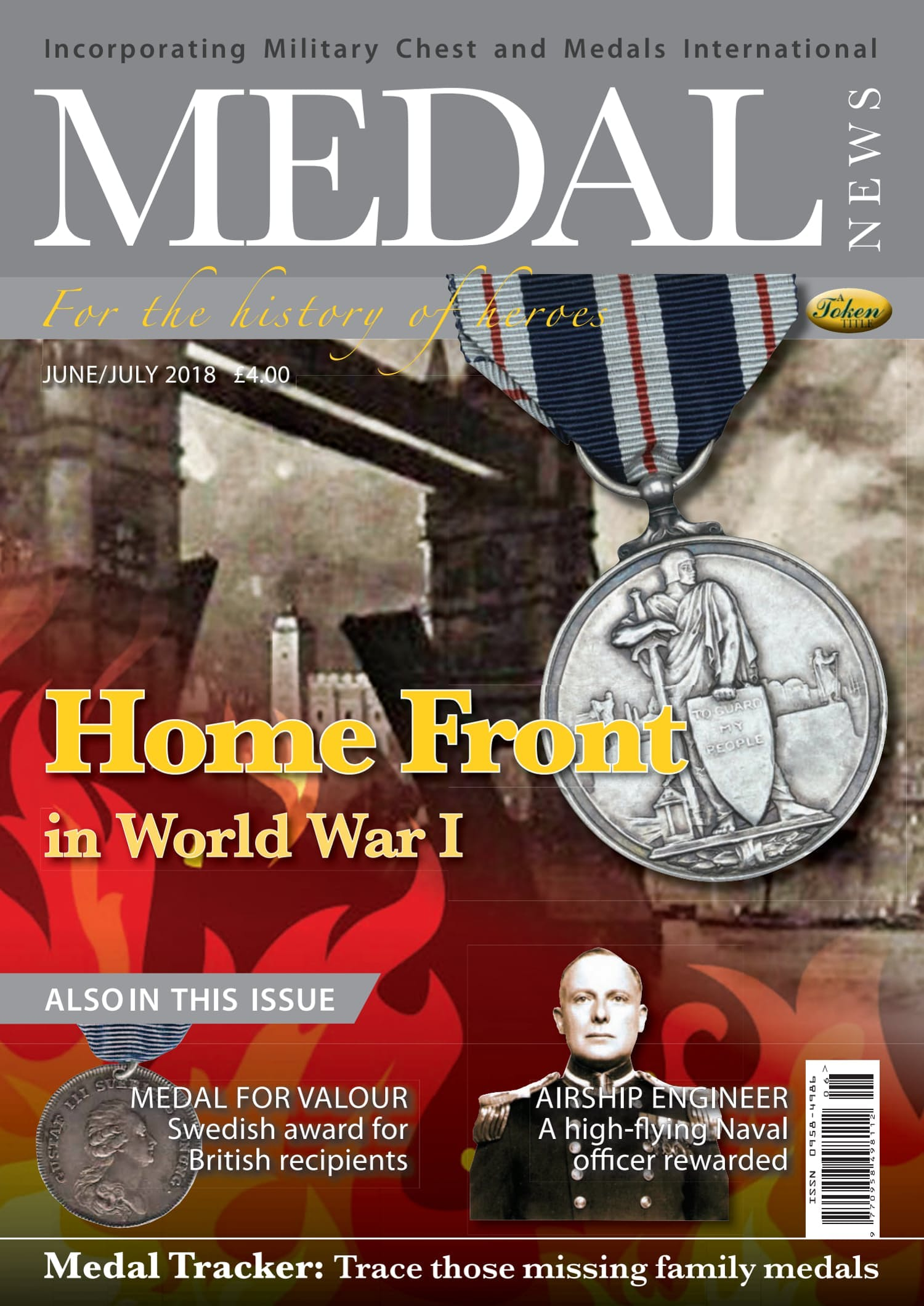 Front cover of 'Home Front in World War I', Medal News June 2018, Volume 56, Number 6 by Token Publishing