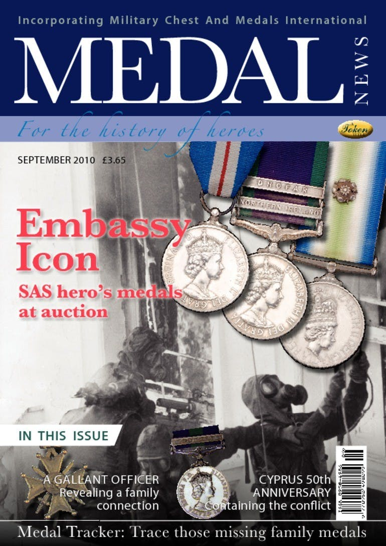 Front cover of 'Embassy Icon', Medal News September 2010, Volume 48, Number 8 by Token Publishing