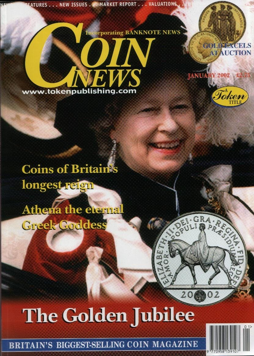 Front cover of 'Sharing your hobby', Coin News January 2002, Volume 39, Number 1 by Token Publishing