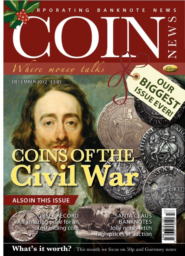 Front cover of 'Coins of the Civil War', Coin News December 2012, Volume 49, Number 12 by Token Publishing