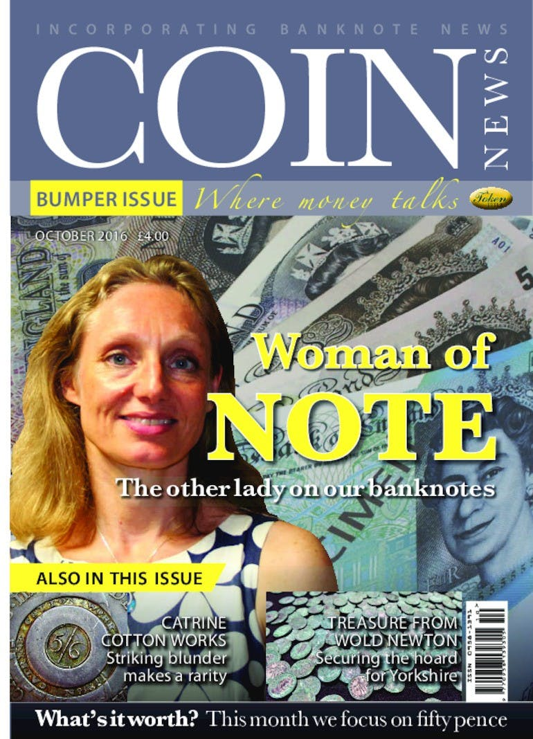 Front cover of 'Woman of Note', Coin News October 2016, Volume 53, Number 10 by Token Publishing