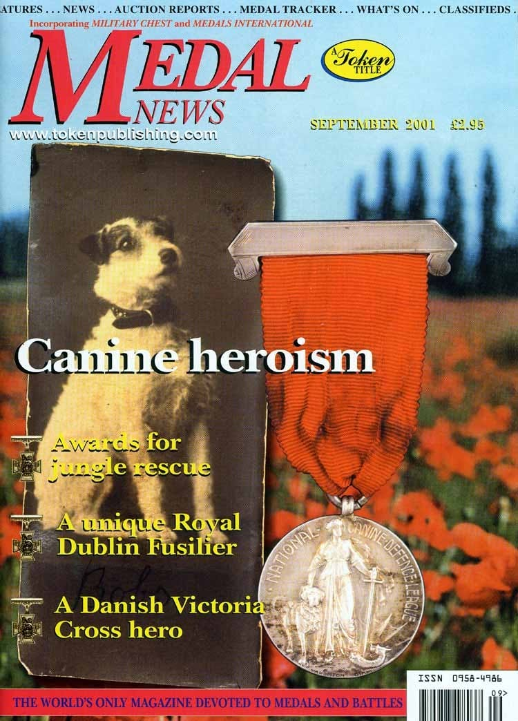 Front cover of 'Freshening up', Medal News September 2001, Volume 39, Number 8 by Token Publishing