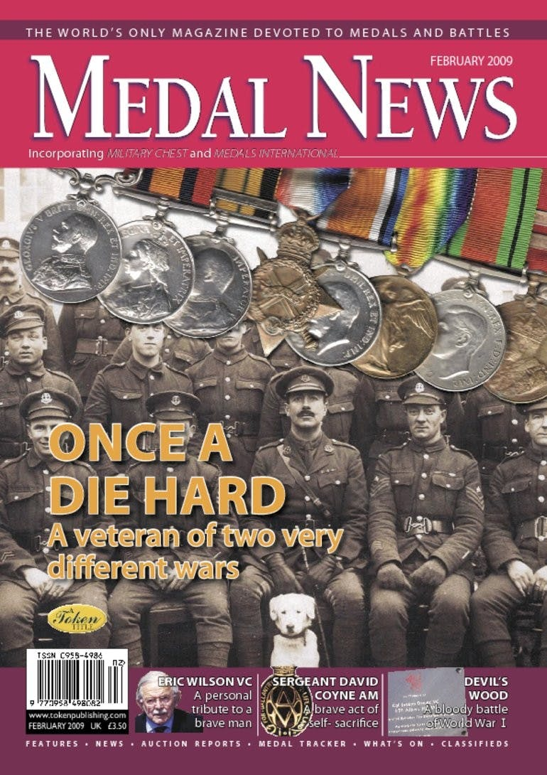 Front cover of 'Once a die hard', Medal News February 2009, Volume 47, Number 2 by Token Publishing