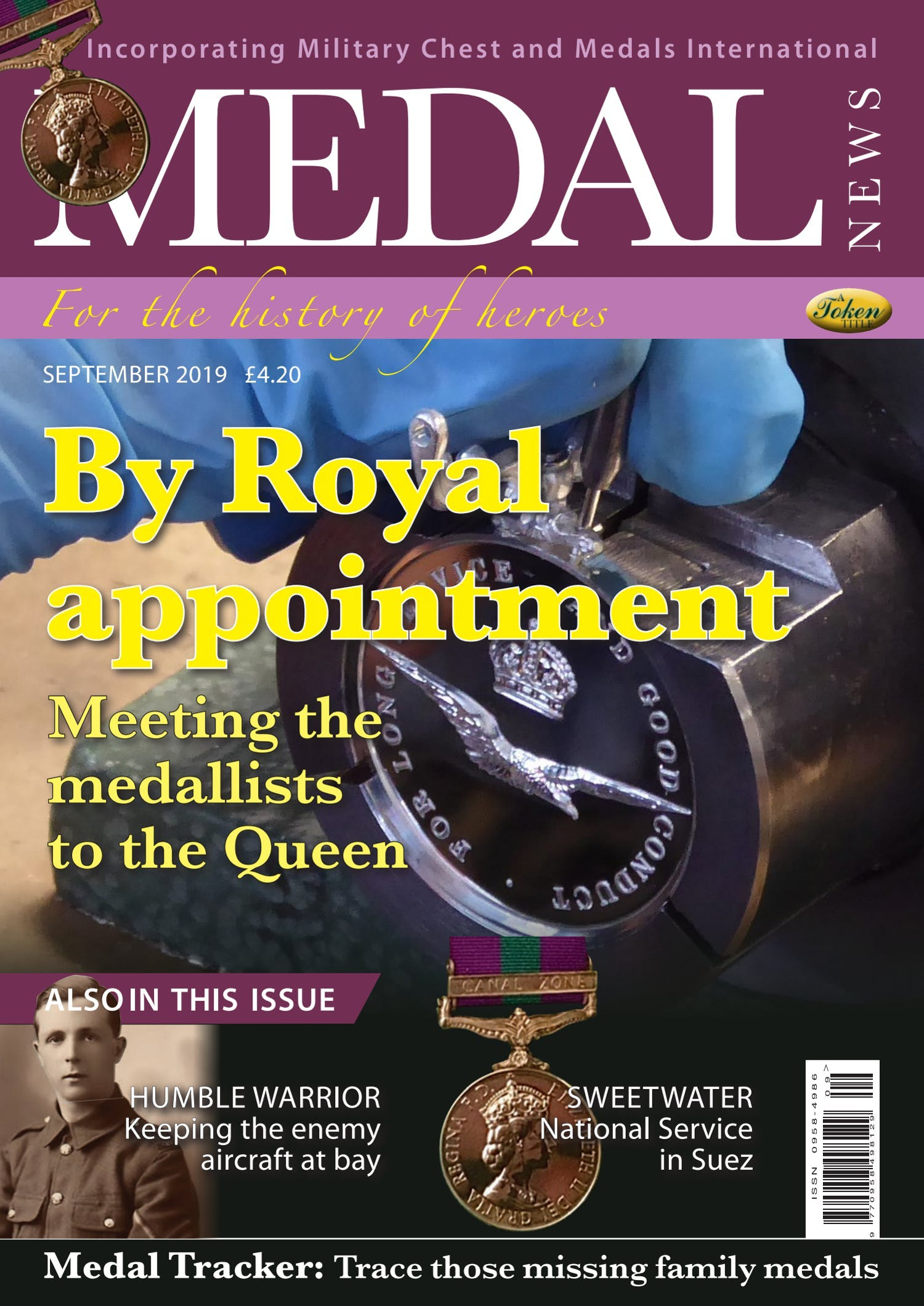 Front cover of 'By Royal Appointment', Medal News September 2019, Volume 57, Number 8 by Token Publishing