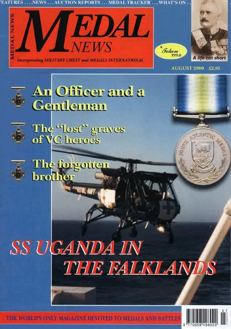 Front cover of 'Not Forgotten ', Medal News August 2000, Volume 38, Number 7 by Token Publishing